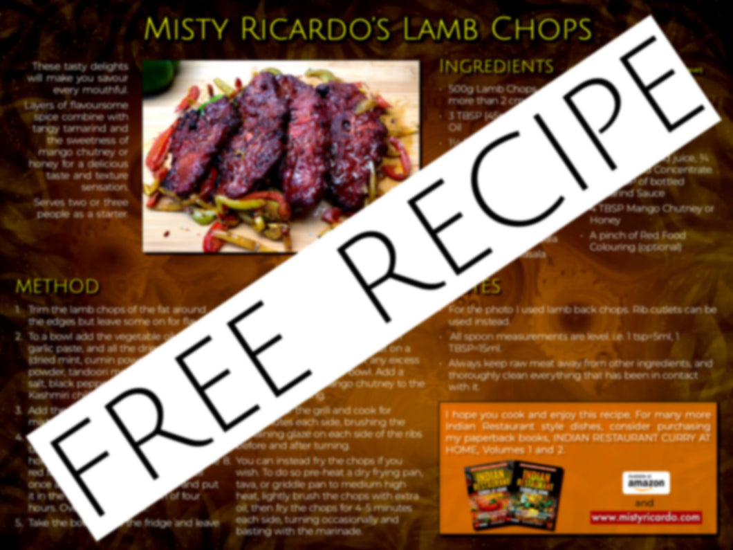 Misty Ricardo's Lamb Chops Recipe