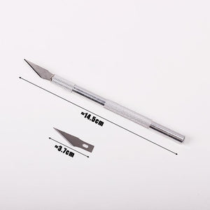 1 Set Metal Blade Pen-like Engraving Knife - stilyo