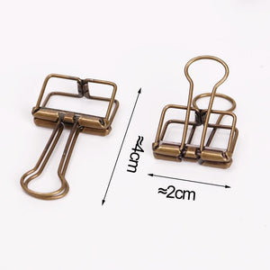 10 PCS Hollow Metal Binder Clips (20mm) - stilyo