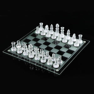 "10""X10"" Glass Chess Set - stilyo"