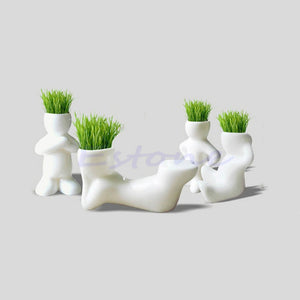 Mini Ceramic White Doll Grass Hair - stilyo