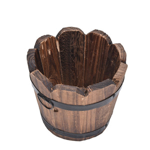 Vintage Whiskey Barrel Planter - stilyo