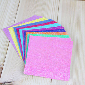 Square Shining Origami Paper (Single Sided) - 50 Pieces