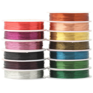 Multi-color Copper Wire - 0.3MM 20M/Roll - stilyo
