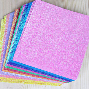 Glitter Origami Papers- One Sided - stilyo