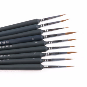9Pcs Set of Thin Brushes - stilyo