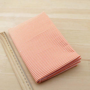Orange Strips Designs Cotton Fabric - stilyo