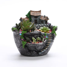 Planter Flower Plant Pots Fairy Garden Pot with Sweet House
