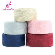 40mm Satin Flowers Lace Ribbons - stilyo
