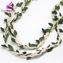 DIY Wax Cord With Leaves - 2 Yards Long - stilyo