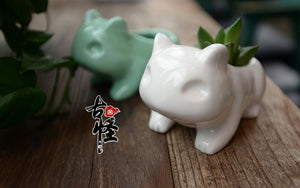 Cute Ceramic Bulbasaur Planter Flowerpot