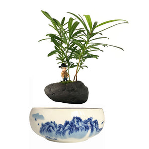 Blue Ocean Base Levitating Air-Floating Bonsai Pot - stilyo