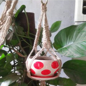 Hanging Pot Holder Rope Basket
