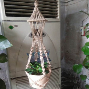 Hanging Pot Holder Rope Basket - stilyo