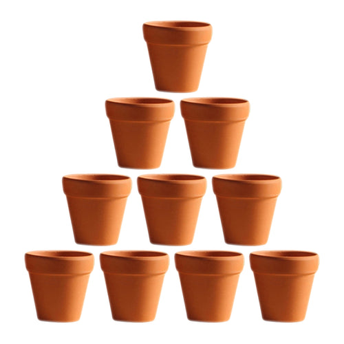 10Pcs Small Mini Clay Pots
