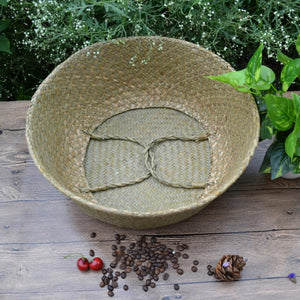 Seagrass Foldable Hanging Wickerwork Basket - stilyo