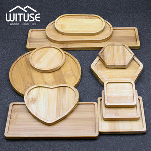 Bamboo Wooden Shaped Pot/Plant Trays - stilyo