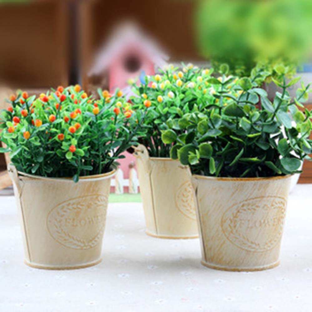 Retro Style Wooden Succulent Plants Pot Garden