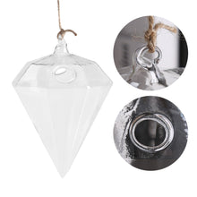 Diamond Shaped Glass Hanging Plant Pot - stilyo