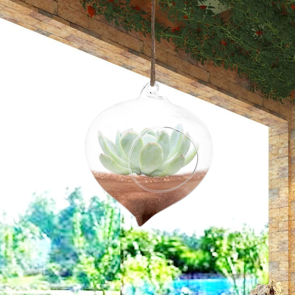 Wall Hanging Glass Plant Pot - stilyo