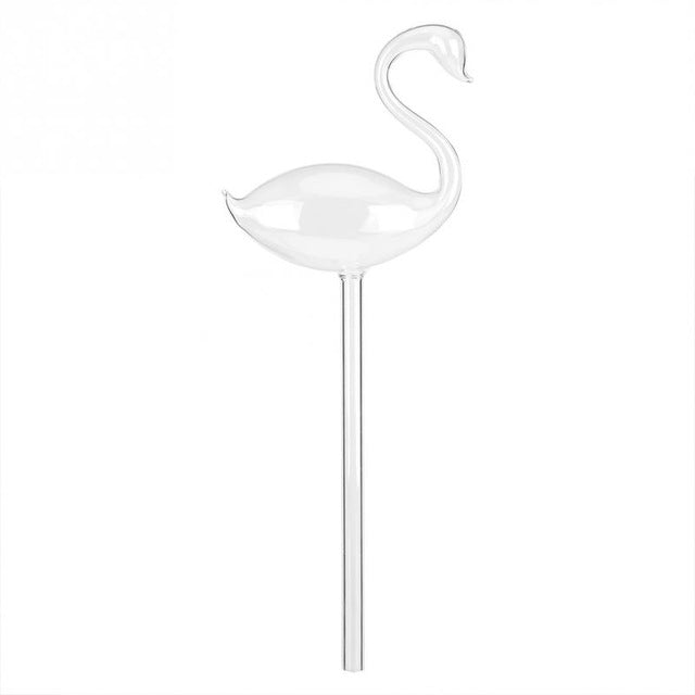 Swan Clear Glass Water Feeder