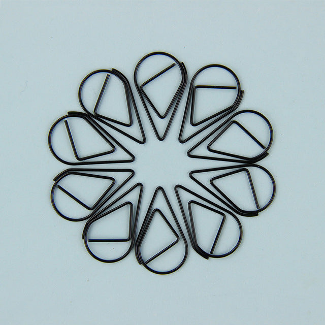 10PCS Heart/Drop Shaped Paper Clips - stilyo