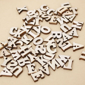 200Pcs Mixed A-Z Wooden Letters/Numbers - stilyo