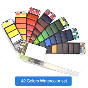 Watercolor Collapsible Suit With Pen