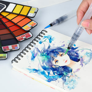 Watercolor Collapsible Suit With Pen - stilyo