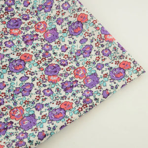 Purple Flower Cotton Fabric - stilyo