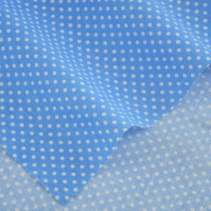 100% Cotton Fabrics Crafts - Blue & White Dots - stilyo