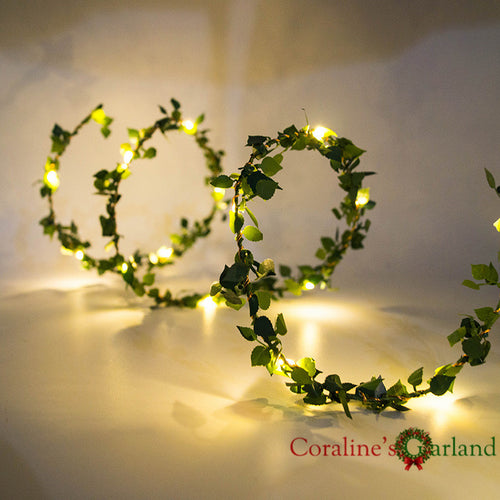 2M LED String Lights - Leafs Garland