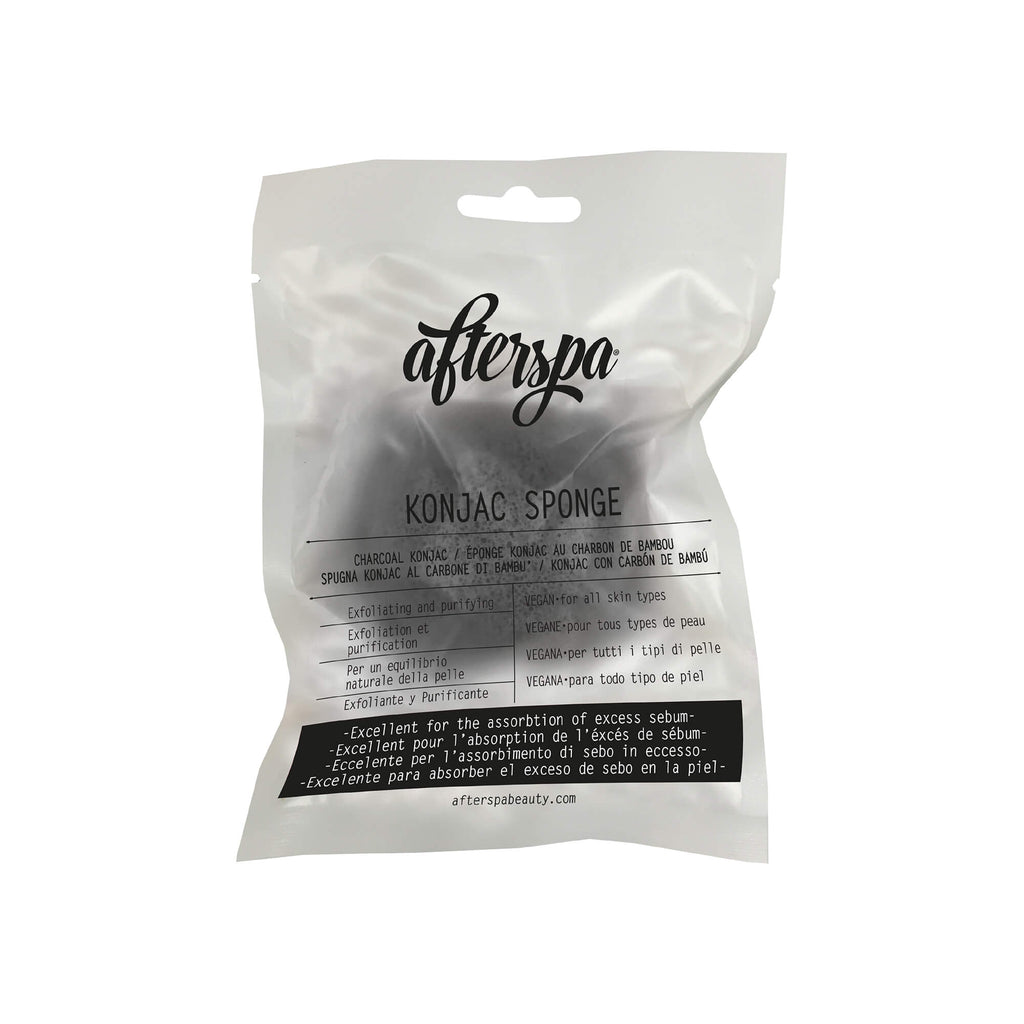Charcoal Konjac Sponge - Afterspa -  Spa experience at home