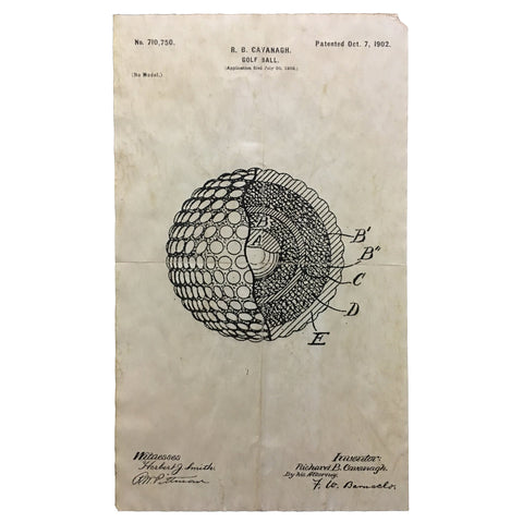 1902 Golf Ball Patent Print