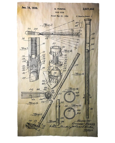 1936 Golf Club Patent Print