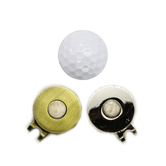 Ball Marker - Unbranded White Golf Ball Hat Clip