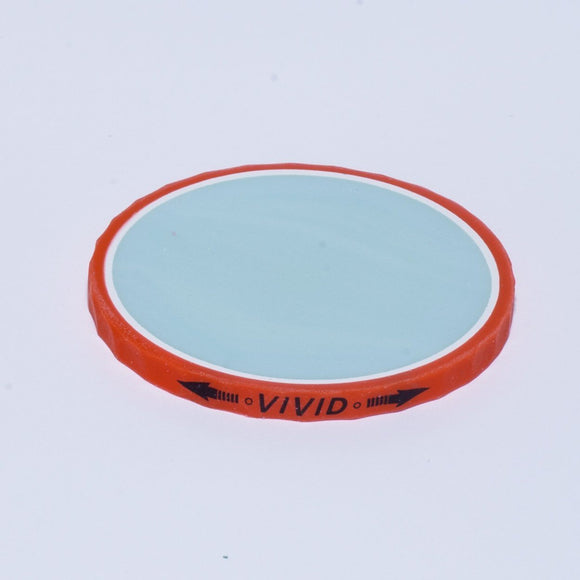 Ball Marker - Volvik Vivid: Red (blue)