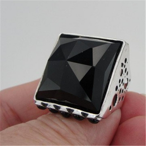 Hadar Jewelry Handmade Art Sterling Silver Ring Onyx any size (H 1334)