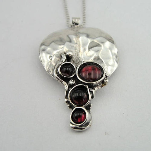 Silver and Garnet Pendant,  (4663)