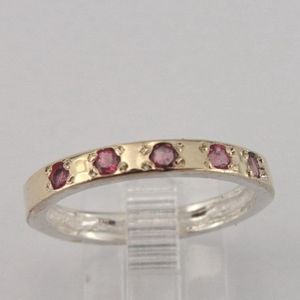 Hadar Jewelry Handmade Gold & Silver Pink Tourmaline RING