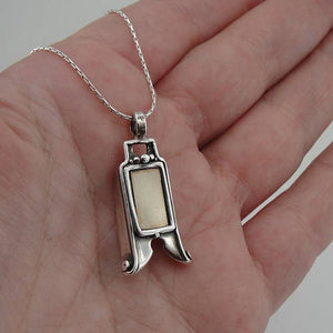 Israel design 9k yellow Gold 9k , 925 sterling Silver Pendant , gift, christmas , Birthday (416g