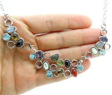 Hadar Jewelry Unique Handmade 925 Sterling Silver Multi Gemstone Necklace (as