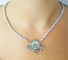 Hadar Designers Israel Handmade 925 Silver Bird Roman Glass Pearl Necklace (As)