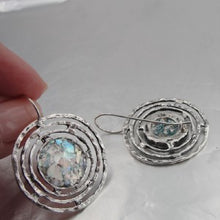 Hadar Jewelry Handmade 925 Sterling Silver Roman Glass Earrings