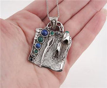 Handcrafted Sterling Silver Mix Stones Pendent (H 425DO)