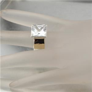 Hadar Jewelry Handmade 9k Gold 925 Silver Zircon Ring
