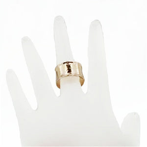 Hadar Exclusive Handmade 9k Yellow/Rose Gold Wedding Ring (I r107)