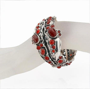 Bold sterling silver and red Carnelian