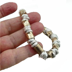14k Yellow gold filled and solid silver beads