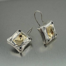 Hadar Jewelry Handmade 9k Yellow Gold 925 Sterling Silver Earrings (H)